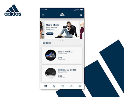 E-commerce App Interface for Adidas-Free Download