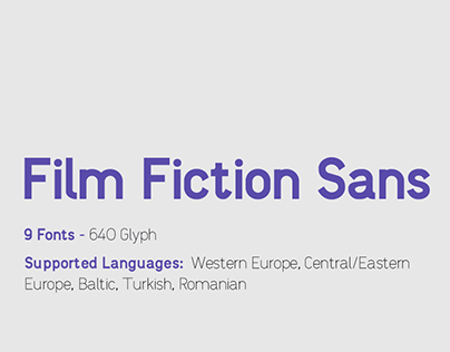 Film Fiction Sans | TYPEFACE