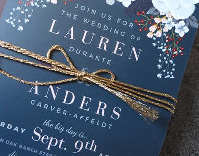 Lauren & Anders Wedding Invite