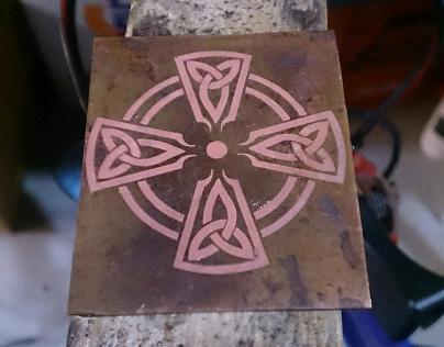 copper plate.