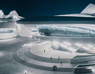 Changsha Meixihu International Culture and Art Centre /