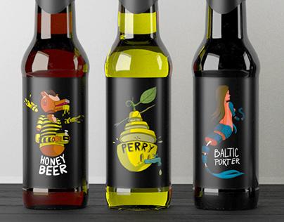 Beer Bottle Labels design