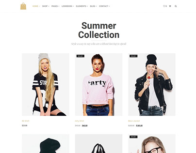 Summer Collection - Seller WordPress Theme