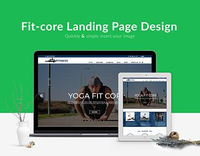 Commercial Web Template/ landing Page design