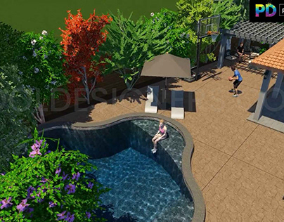 3D Pool Design With Family
