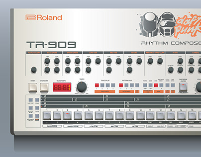 Vector Illustration | Roland TR-909 Rhythm Composer