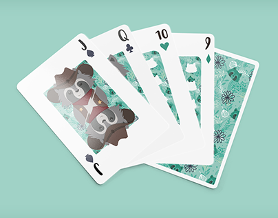 Raccoon Play Cards
