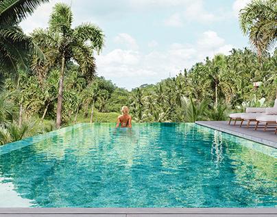 Pool in the jungles of Vietnam