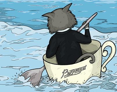 Иллюстрация «По волнам кризиса»