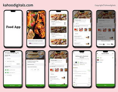 FOOD APP DESIGN AND DEVELOPMENT