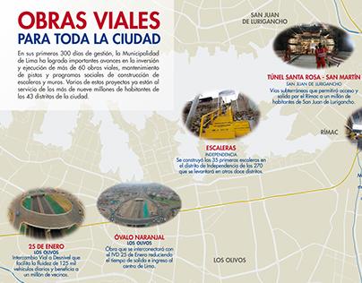 Infografía Obras | Municipalidad de Lima