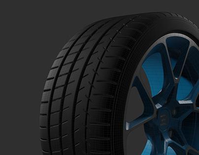 Bugatti Chiron Wheel - SubD Modeling Breakdown