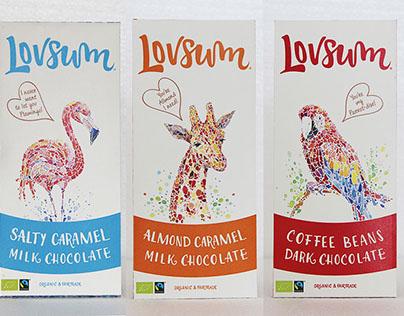 Lovsum packaging design