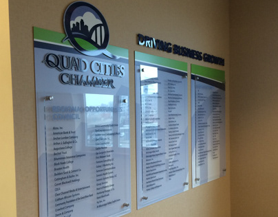 Quad City Chamber Investor Wall Display