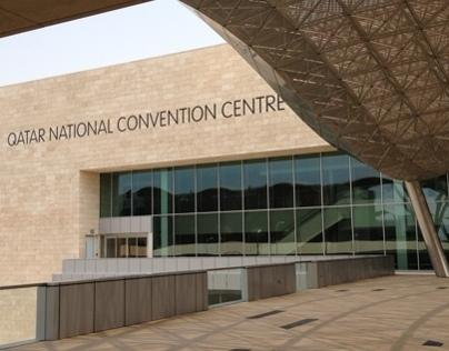 Qatar National Convention Center through my iPhone