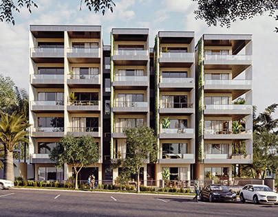 Luxury coastal apartments 3d renderings