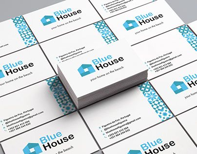 Blue House Business Card