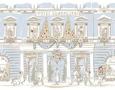 Raffles Hotel Europejski Warsaw Christmass Campaign