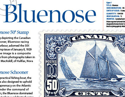 Canada Post Bluenose Stamp Project