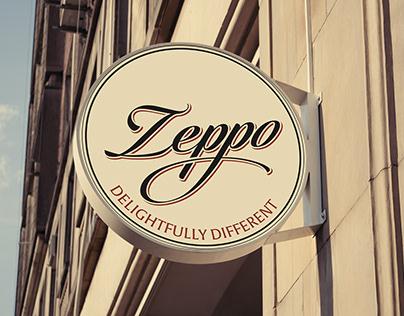 Zeppo restaurant branding