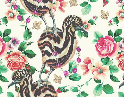 Pattern design Bling Birds 11 Edouard Artus ©2018
