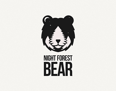 Night forest bear
