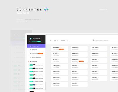 """GUARENTEE"" Rental System UX/UI Design"