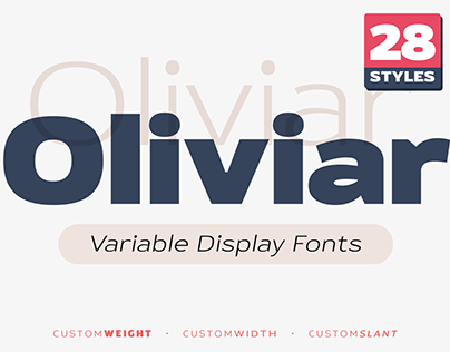 Oliviar Sans Variable Fonts / Free Fonts Available