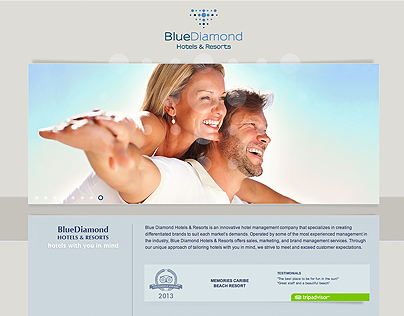BlueDiamond Hotels & Resorts website