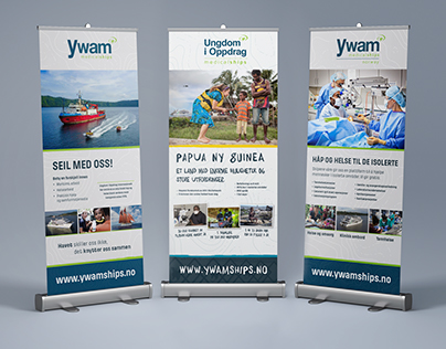Rollup banners | YWAM Medical Ships Norway