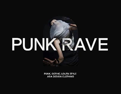 E-commerce fashion website | PUNK RAVE