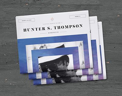 Hunter S. Thompson Retrospective Newspaper