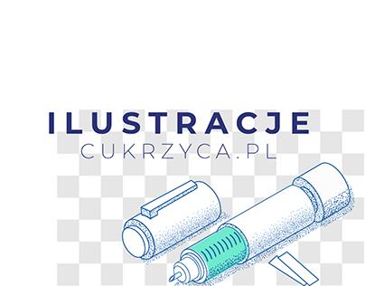 ilustracje dla cukrzyca.pl