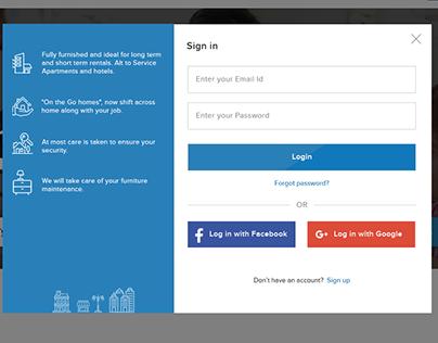 Discover Service Apartment - Web Design UI/UX