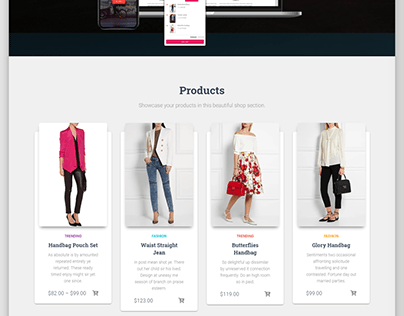 Simple wordpress ecommercce website with woocommerce