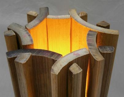 Luminária desmontável de Bambu in Natura