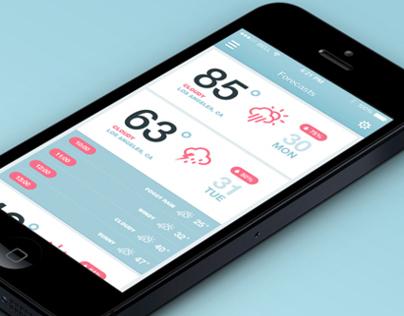 iOS7 Weather App