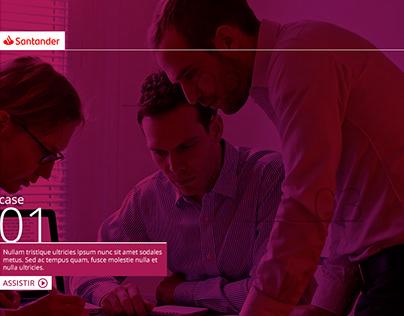 Proposta visual para Santander - Treinamento on-line
