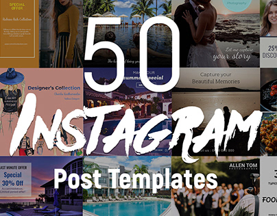 50 Instagram Post PSD templates