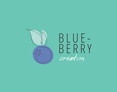 Blueberry creation - Identité visuelle perso