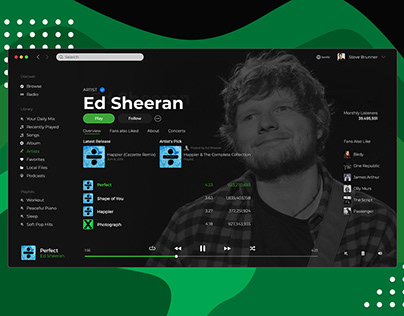 Spotify UI / UX Redesign
