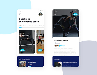 Ultimate UI/UX Designs of Fitness App in 2020