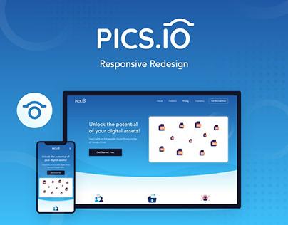 Pics.io Responsive Redesign