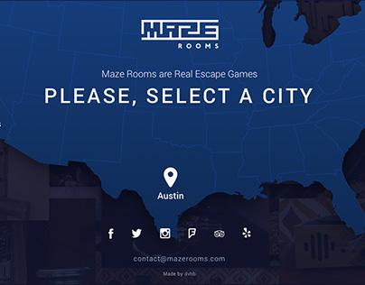 Maze Rooms: Website Design & Development