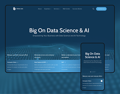 B2B Website for AI & Data Science company