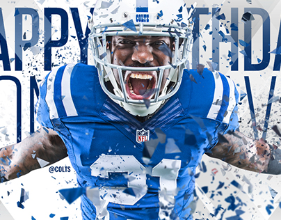 Colts 2016 Happy Birthday Social Graphics