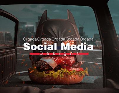 Orgada Burger Social media-ads