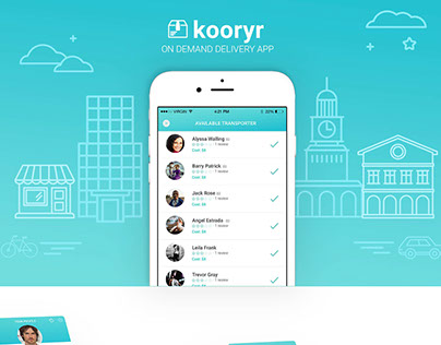 Kooryr - On demand delivery app