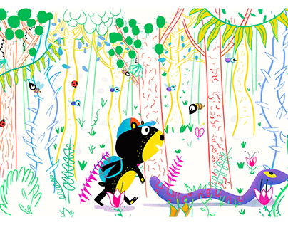 New in the forest - #illustration #picturebooks