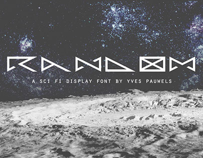Random_DM:  a free sci-fi display font